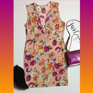 Plus floral midi dress 1XL
